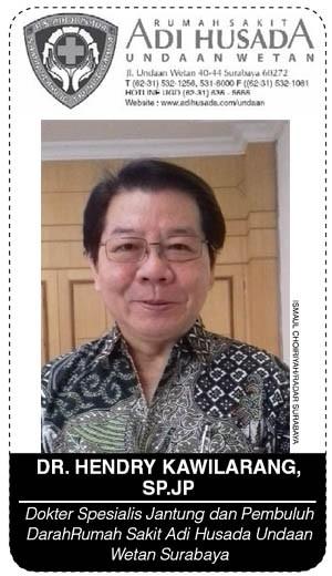 dr. Hendry Kawilarang, Sp.JP, Dokter Spesialis Jantung dan Pembuluh Darah Rumah Sakit Adi Husada Undaan Wetan Surabaya