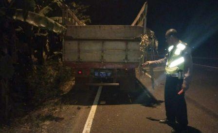 Lokasi kecelakaan di Wonokupang Balongbendo.