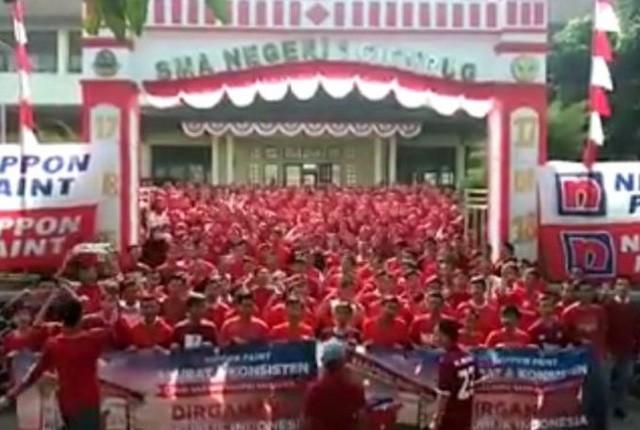 Nippon Paint Indonesia kembali melakukan gebrakan di hari jadi Indonesia yang ke 73 tahun, kali ini sebanyak 7,488 di 30 kota Indonesia Nippon Paint m