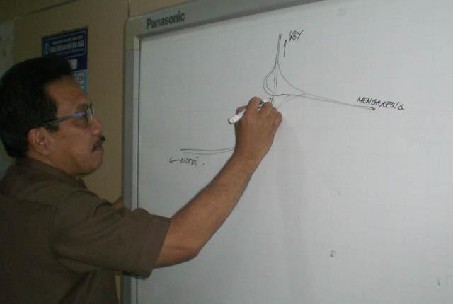 Kejar Target : Kepala Dinas PU dan Bina Marga Provinsi Jatim, Gatot Sulistyo Hadi menjelaskan progres pembangunan jalan tol di Jawa Timur.