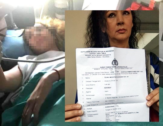 Korban (blur), ibunda korban Puti Jana menunjukkan laporan pelecehan