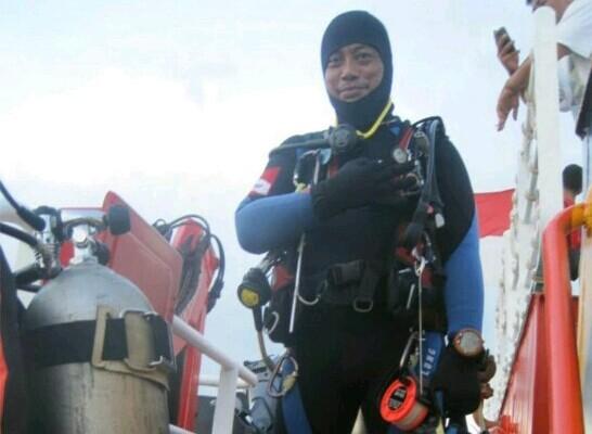 RELAWAN: Almarhum Syahrul Anto terlatih ikut operasi penyelamatan korban bencana.