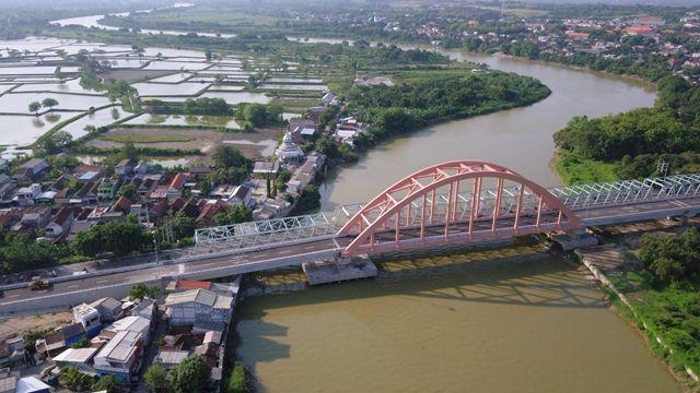 MEGAH: Jembatan Sembayat baru II dengan panjang 350 meter bakal menjadi icon baru Kabupaten Gresik.