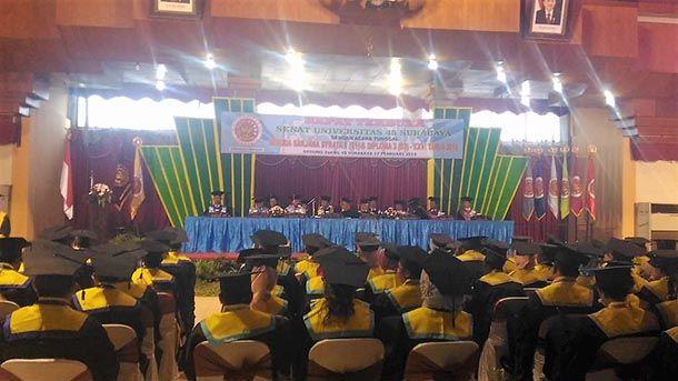ISTIMEWA: Rapat Terbuka Senat Universitas 45 Surabaya dengan acara tunggal Wisuda Sarjana Strata 1 (S1) dan Diploma 3 (D3) XXVI Tahun 2019.