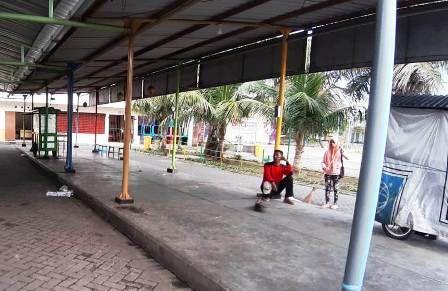 TKP: Di lokasi pasar PPS inilah, korban dikerjai pelaku pencopetan.