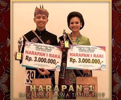 DUTA WISATA: Guk Aryo Bino Dewanto yang terpilih menjadi juara harapan 1 Raka Jawa Timur 2019.