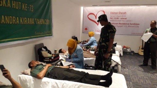 Antisipasi Bencana dan Laka, Ratusan Personel TNI Sumbang Darah