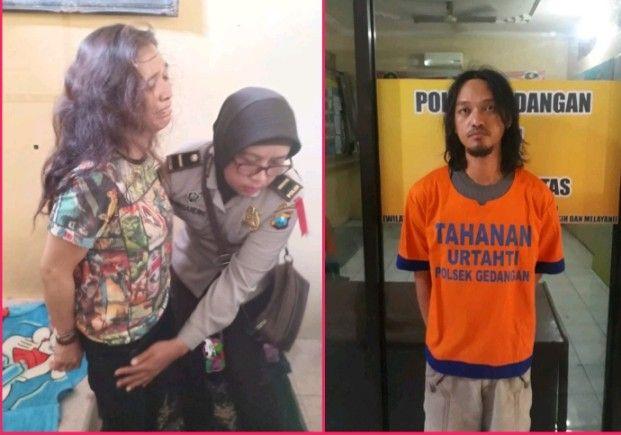 BUDAK NARKOBA: Pasutri Lisa Mardianah dan Vichal Bambang yang ditangkap polisi.