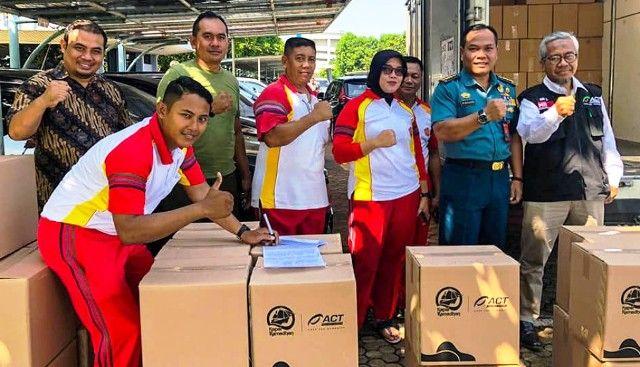 Wujud Kontribusi untuk Bangsa, ACT Bagikan 250 Paket Pangan untuk TNI