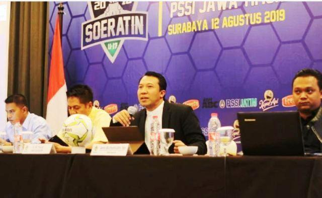 TURUN: Manager Meeting Piala Soeratin U-17 Jatim di Hotel Kampi, Surabaya, Senin (12/8)