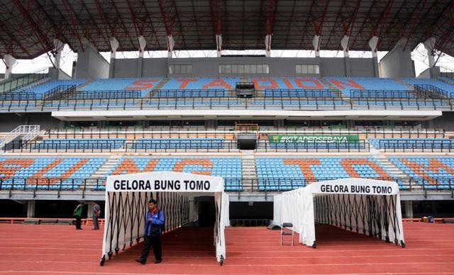 VENUE: Stadion Gelora Bung Tomo di Benowo, Surabaya, yang akan menjadi salah satu venue penyelenggaraan Piala Dunia U-20.