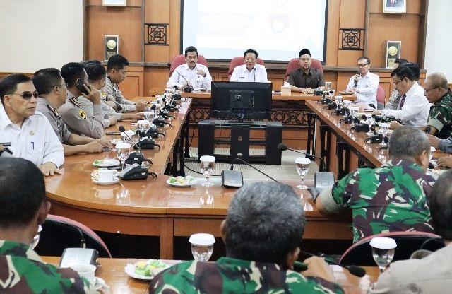 RAKOR: KPUD Gresik menggelar rakor bersama Forum Koordinasi Pimpinan Daerah (Forkopimda), kemari