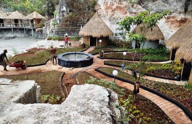 DIBANGUN: Obyek wisata bukit Setigi diharapkan bisa tuntas dan beroprasi pada 2020.