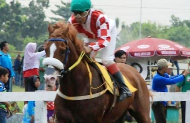 LARI KENCANG: Atlet pacuan kuda Mayyora Stable Sidoarjo berlaga di Bupati Bantul Cup beberapa waktu yang lalu.
