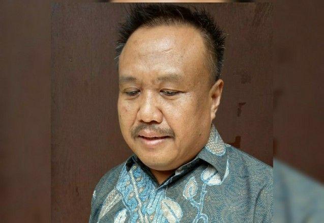 SAKSI: Ketua Partai Nasdem Saiful Anwar usai diperiksa KPK.