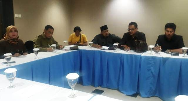 CEK: Komisi B DPRD Sidoarjo saat sidak di Sun City