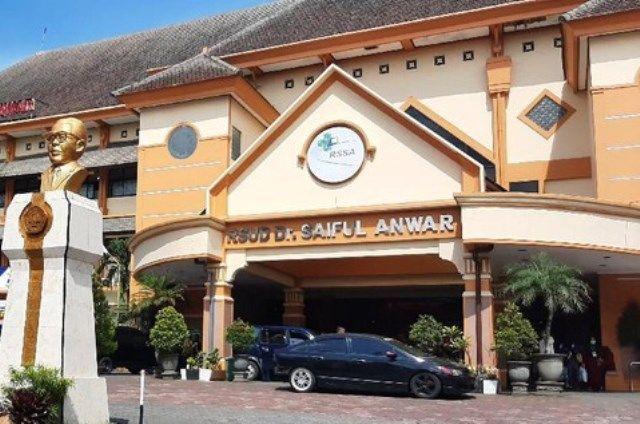 RUJUKAN: RS Saiful Anwar Malang yang menjadi salah satu tempat rujukan perawatan dan isolasi pasien Covid 19.