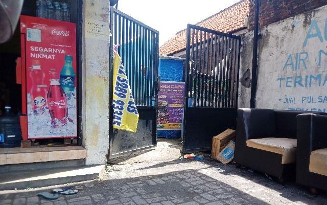 SEPI: Salah satu lokasi menuju gerbang kos dimana penusukan terjadi