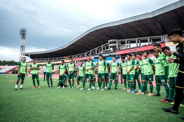 TATAP LIGA 1: Tim Persebaya berlatih menghadapi lanjutan kompetisi Liga 1 pada 1 Oktober mendatang.
