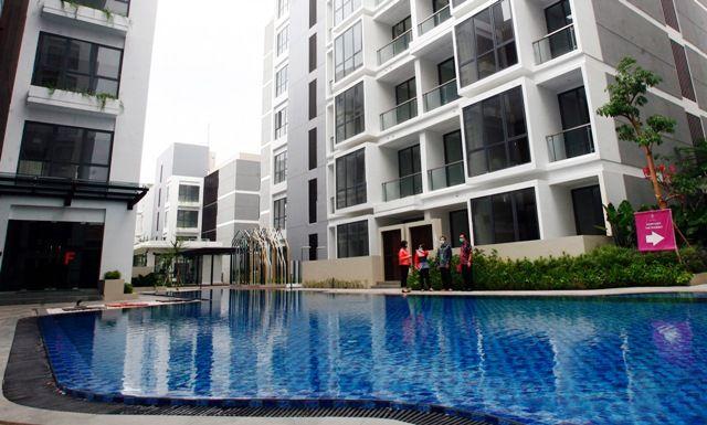 ANDALKAN DIGITAL: Apartemen The Rosebay yang dikembangkan Intiland. Lewat digital marketing, Intiland memacu penjualan hingga akhir tahun.