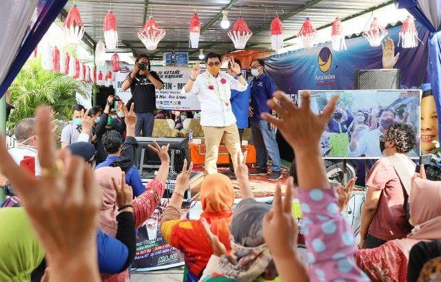 Machfud Arifin Sapu Bersih Dukungan Warga Sawahan
