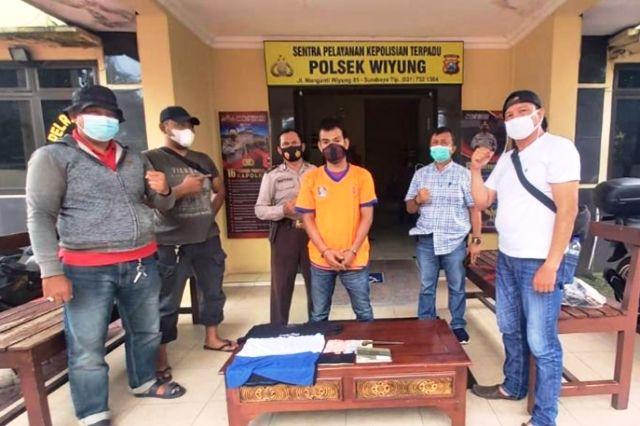 PEMAIN LAMA: Joko Hariyanto diamankan di Polsek Wiyung.