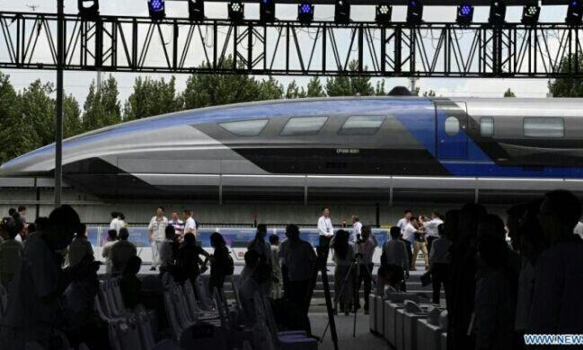 Peluncuran kereta api tercepat di dunia di Tiongkok.