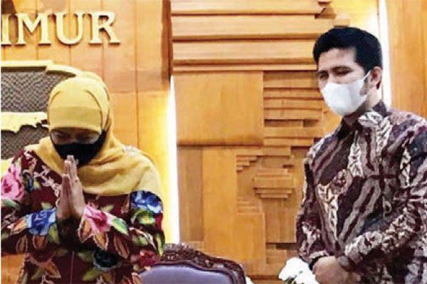 PEMIMPIN JATIM: Gubernur Jatim Khofifah Indar Parawansa dan Wagub Jatim Emil Elestianto Dardak meminta maaf kepada masyarakat atas pelaksanaan PPKM Darurat yang belum optimal.