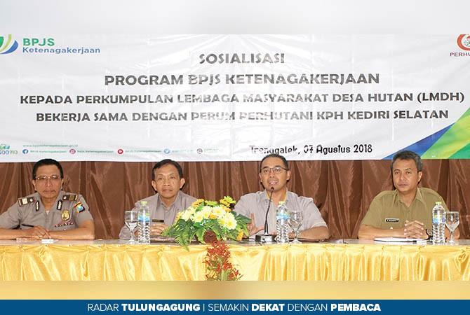 PERHATIAN KE LMDH: BPJS Ketenagakerjaan menyosialisasikan programnya di hadapan LMDH kemarin.