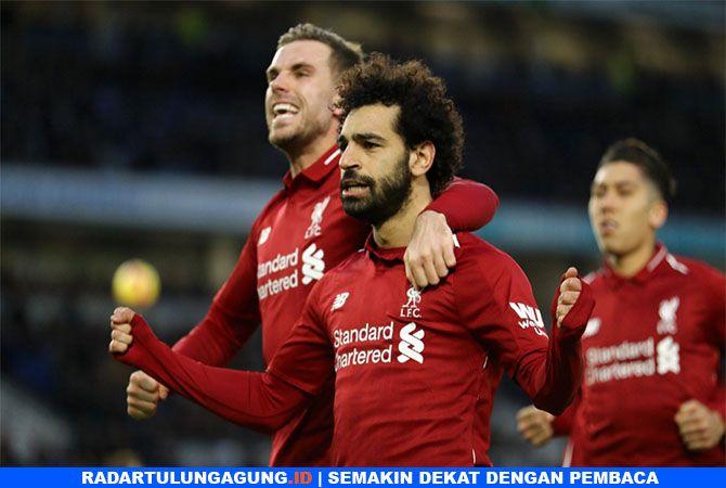 KIAN SUBUR : M. Salah usai mencetak gol dari penalti pada menit ke 50.