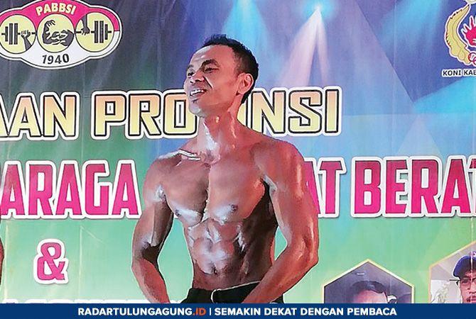 KEKAR: Andri Krisdianto saat mengikuti sebuah event body contest beberapa waktu yang lalu.