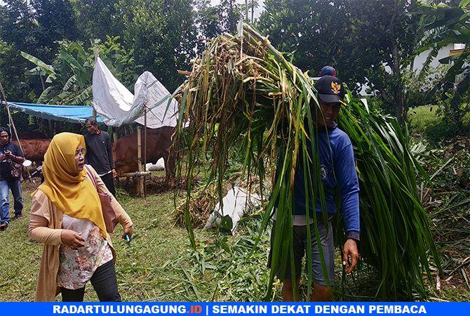 MUSIBAH : Pengungsi di Desa Waung, Kecamatan Boyolangu.