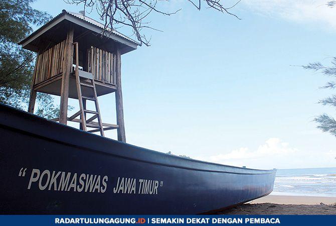 ANDALAN: Pantai Serang yang terletak di Desa Serang, Kecamatan Panggungrejo salah satu desa wisata yang ada di Kabupaten Blitar.