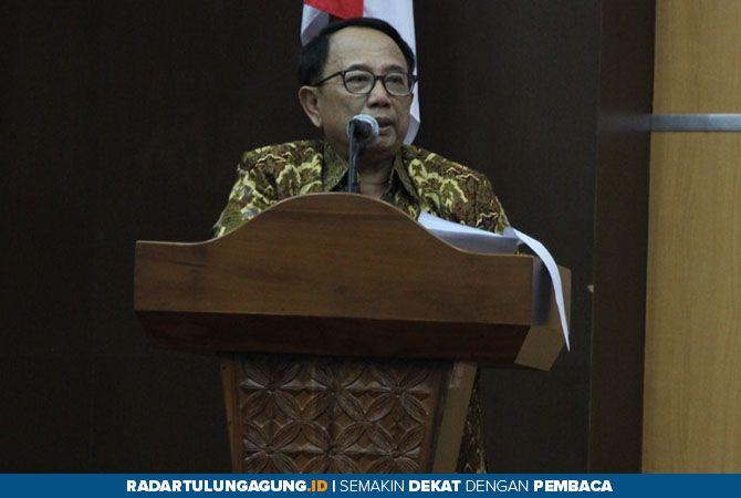 BUKA: Bupati Rijanto memberi sambutan saat pembukaan Rapat Evaluasi Implementasi Smart City.