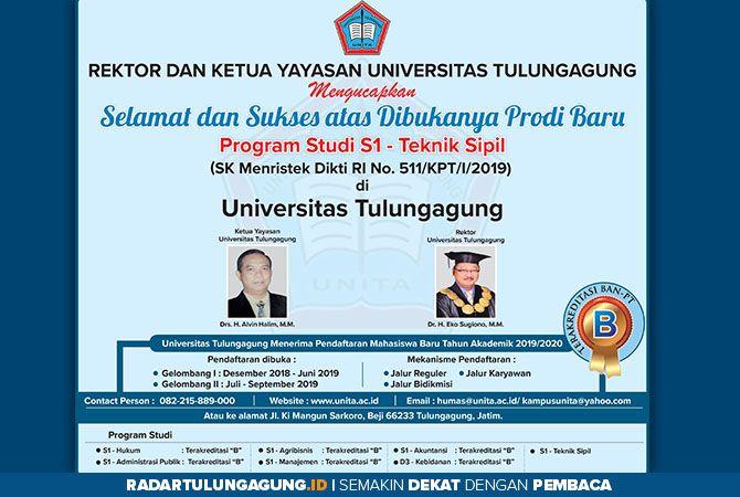 Universitas Tulungagung Telah Buka Program Studi Baru S1 Teknik Sipil