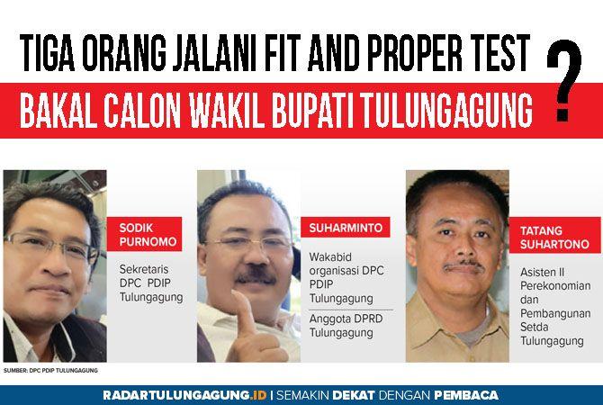 Tiga Nama Tokoh Tulungagung Jalani Fit and Proper Test ke DPP PDIP