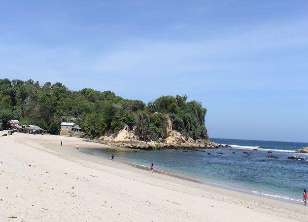TUNGGU PERIZINAN: Kondisi Pantai Tambakrejo di Desa Tambakrejo, Kecamatan Wonotirto, yang belum dibuka karena masih menunggu proses perizinan.