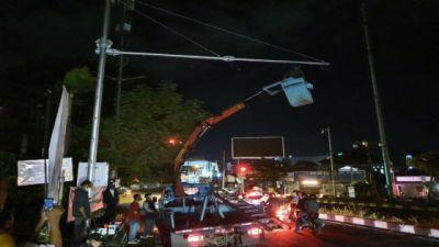 Kamera Canggih Mengintai, ETLE Dipasang di Simpang Buagan Denpasar