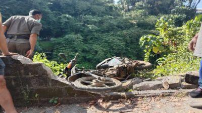 Rem Motor Blong, Kak Gaul Tewas Terjun di Jurang Tukad Ayung