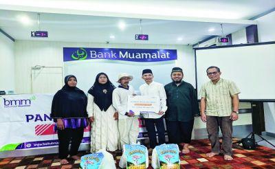 Bank Muamalat Salurkan Dana Zakat Pangan untuk Kaum Dhuafa