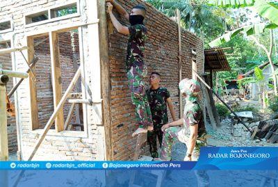 Rumah Parmin Sudah Tahap Pengecoran di Hari Ke 16 TMMD 106