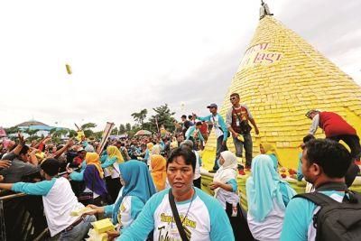 Meriahnya Festival Tahu Kuning Kediri