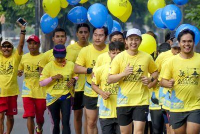 Runner Jogja Meriahkan Road To Tiket.com Kudus Relay Marathon 2019