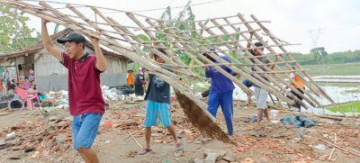 Disapu Angin Puting Beliung, Satu Rumah di Grobogan Rata dengan Tanah