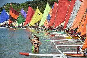 25 Jukung Warna Warni Hiasi Pantai Sanur