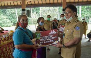 Bupati Giri Prasta Serahkan Bantuan Stimulus untuk UMKM Objek Wisata