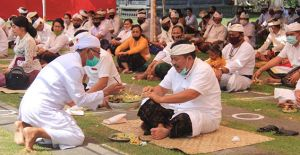 Pujawali Pura Jagatnatha Terapkan Protokol Kesehatan