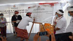 KPU Jembrana Ingatkan Paslon Kampanye Damai, Taat Prokes
