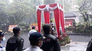 Upacara HUT ke-233 Kota Denpasar Diguyur Hujan, Ini Temanya