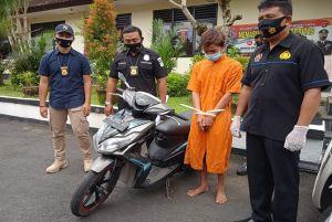 Gadaikan Motor Teman, Pria Ini Dibekuk Polisi
